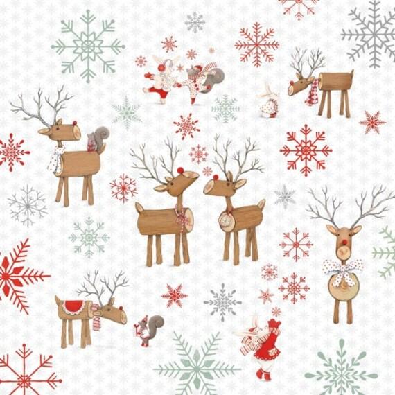 Joy Love Peace Christmas Fabric