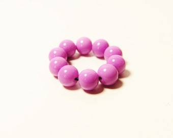 D-00947 - 10 Glass beads 6mm lilac