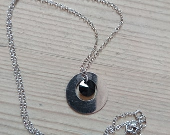 vintage sterling silver pendant and chain, necklace