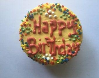 Dog Treats//Happy Birthday homemade soft birthday cake for dogs