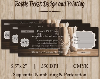 Raffle Tickets - Dance Tickets - Recital Tickets - Ballet Recital Ticket Design - Numbered Tickets  - Custom Graphic Design
