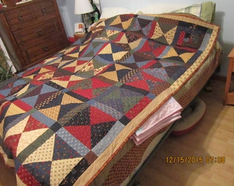 Hourglass finished quilt