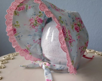 Shabby Chic Baby Bonnet