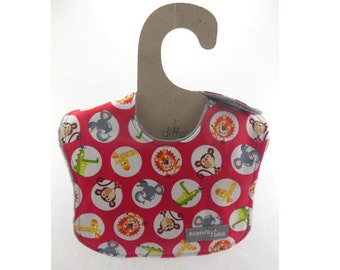 Animal Soup on this leakproof baby bib (Ready to ship)