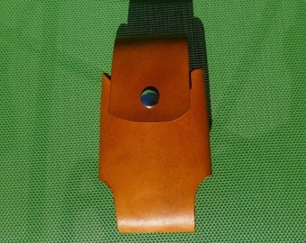 Cell Phone Holster for iPhone 6 and Galaxy - Plain Leather