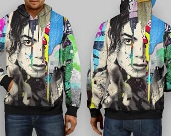 the great hoodie thame michael jackson full print hoodie custom design