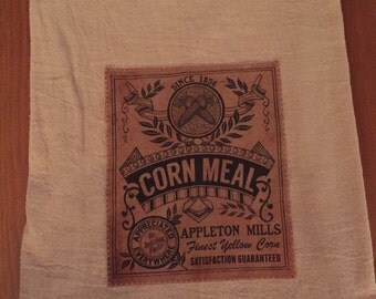 Corn Meal floursack tea towel