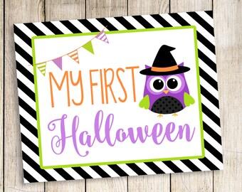Halloween Print, First Halloween, First Halloween Birthday, Halloween Printable, First Halloween Printable, Halloween Photo Prop