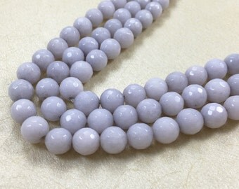 8mm semi precious natural gemstones,jade faceted round beads for honesty bracelet
