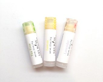 3 piece Mom's Dad's Grad's Gift Pack Wholesale Lip Products Gift Set Lip balm Set Essential Oil Vegan Plant Wax Avocado Sweet Almond