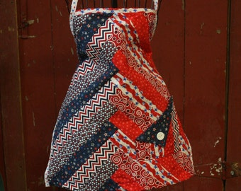 A very bright and colorful apron