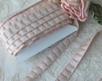 Woven Ribbon Trim - Pinky Peach - Crafts or Sewing Projects