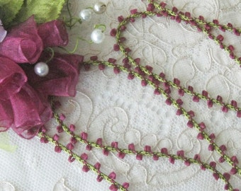 Mokuba Petit Silk Trim - For Crafts, Sewing, Dolls, Teddy Bears, Miniatures and Crazy Quilting - Sold by the Yard