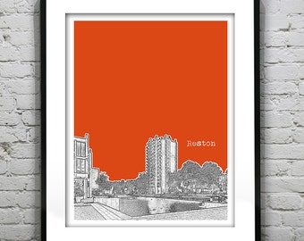 Reston Virginia Poster Skyline Art Print VA Version 2