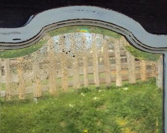 Old facet mirror frame