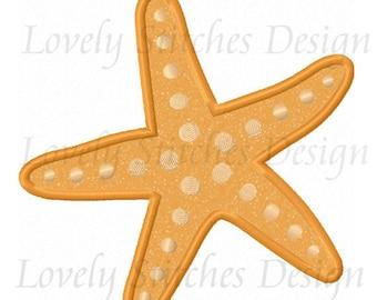 Summer Starfish Applique Machine Embroidery Design NO:0551