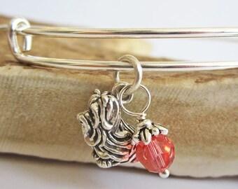 "Maltese Large Dangle Stackable Bangle Bracelet (2.5""-3"")"