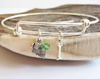 "Maltese Mini Bone Stackable Bangle Bracelet (2.5""-3"")"
