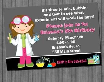 Little Scientist Birthday Invitations