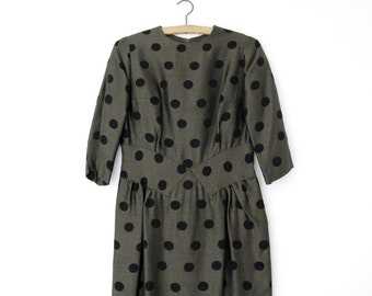Vintage Dress // 50's Polka Dot Wiggle Dress