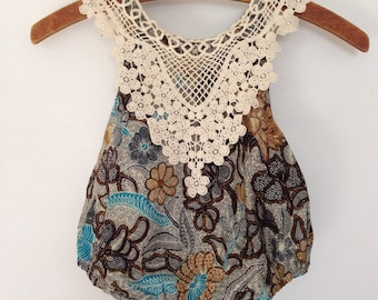 12m Balinese-vintage inspired sun suit
