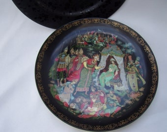 Black Russian Fairy Tale Plate,Bradford Exchange,The Tale of the Golden Rooster