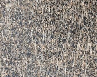 Natural Cork Fabric - Straw Black
