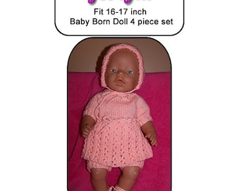 Baby Born Knitting Pattern GEORGIA  fits 16 to 17 inch dolls (pattern only)