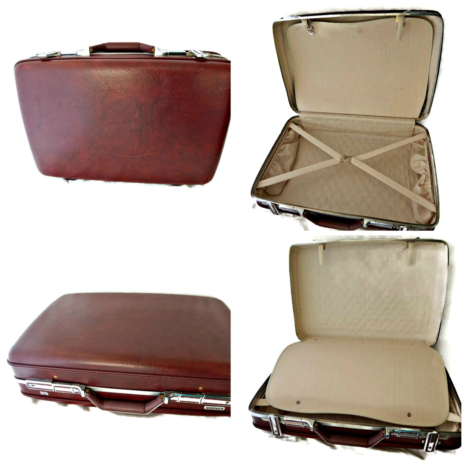 american tourister suitcase hard shell case luggage marbled. Black Bedroom Furniture Sets. Home Design Ideas