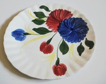 Plate, Vintage, Southern Potteries, Blue Ridge Chrysanthemum, 1950s