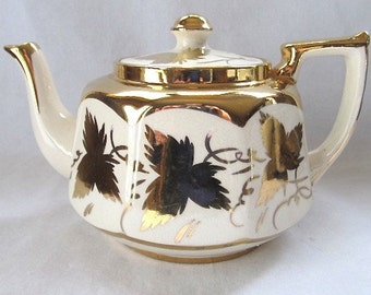 Vintage English Earthenware Teapot by Price Bros. New and Unused