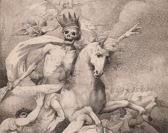 "John Hamilton Mortimer : ""Death on a Pale Horse"" (c1775) - Giclee Fine Art Print"