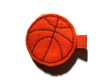 Bsketball Felt Hair Clip - Sports Feltie Hair Clip