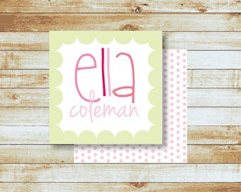 Personalized Calling Cards - Kids - Ella
