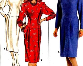 Vintage 1986 Kathryn Conover Butterick Pattern 4069 DROP WAIST DRESS  Misses Sizes 6 8 10
