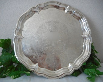 Large Silverplate Platter Eales 1779, vintage