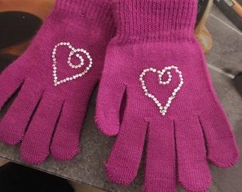 Pinkish purple with heart