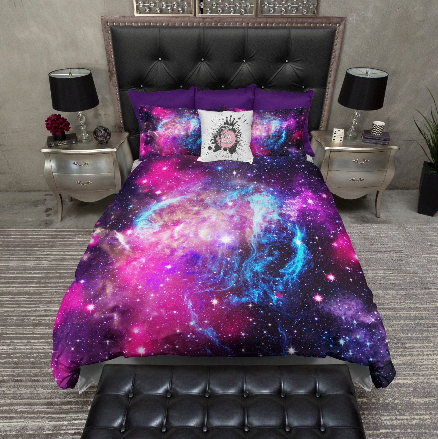 galaxy bedroom set in stock lightweight galaxy duvet cover and by inkandrags 11631