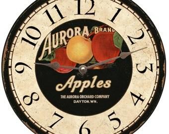Aurora Apples Clock