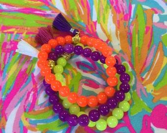 Set of 3 Lilly Inspired Bracelets
