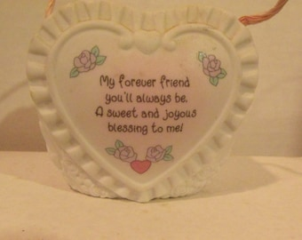 Valentine Vase Hanging Porcelain Quote