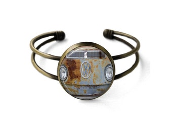 Rusty VW Bus Cuff Bracelet