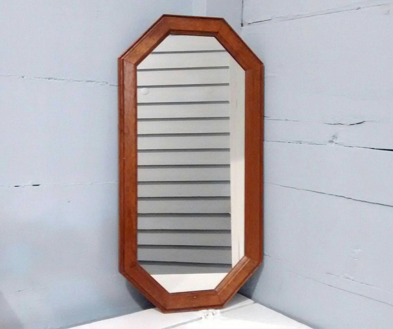 Mirror long octagon framed mirror wall mirror vintage for Long framed mirror