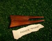 "Padauk ""Wedge"" style divot repair tool"