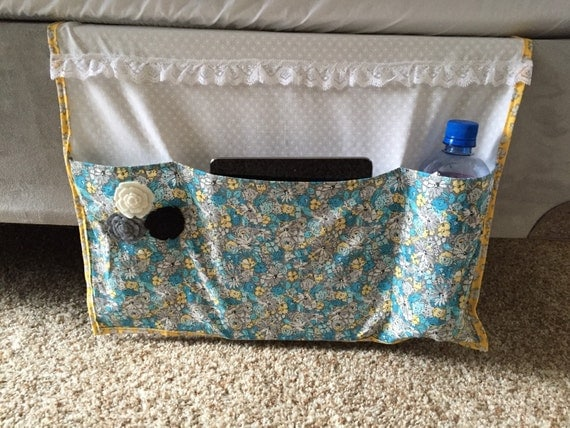 Items Similar To Girls Bedside Bed Caddy Bed Organizer