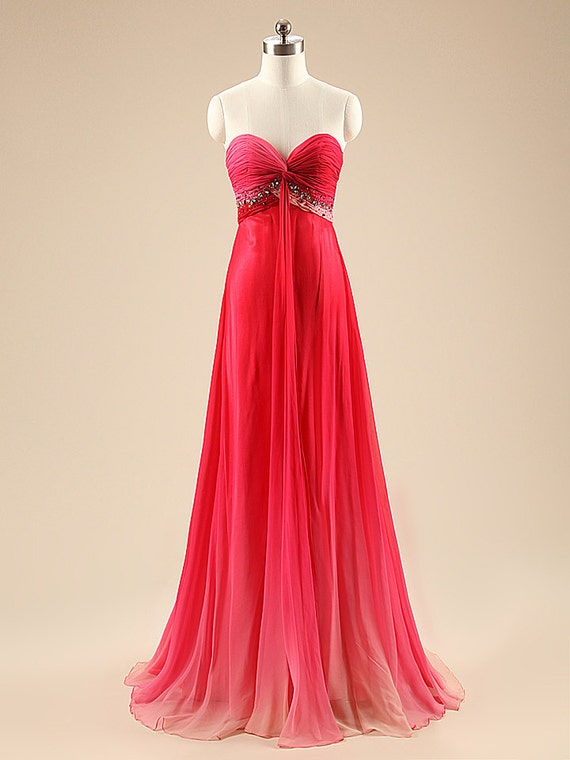 Simple Bridesmaid Dresses A-Line Pleat Chiffon Crystal Prom Dress Sweetheart Evening Dresses Long Prom Gowns Party Dress for Weddings