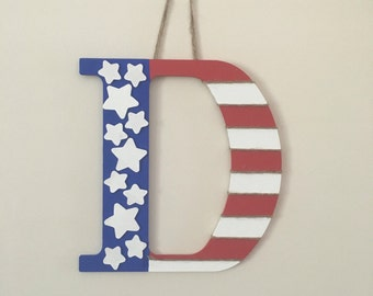 Patriotic Letter wall hanging