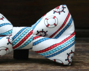 Nautical Doggie Bow Tie. Anchor Dog and Pet Accessories