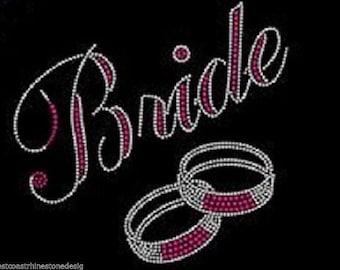 Bride #4 Rhinestone Iron on Transfer 0TWO