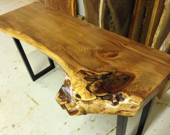 Live Edge Table - Live Edge Console Table - Wood Slab Table - Live Edge Slab Table - Wood Slab Coffee Table - Wood Table - Redwood Table (1)
